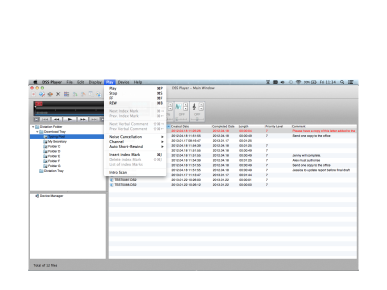 DSS Player dla MAC, Olympus, Transcription Software